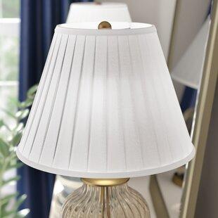Round Box Pleat 16 Linen Bell Lamp Shade
