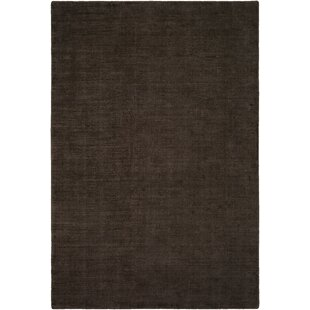 Best Laraine Hand-Loomed Black/Brown Area Rug ByWilliston Forge