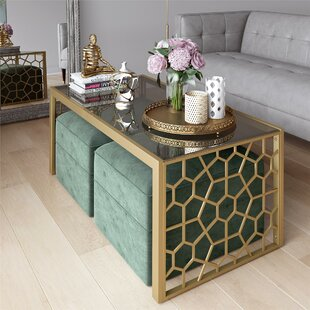 Juliette Glass Top Coffee Table