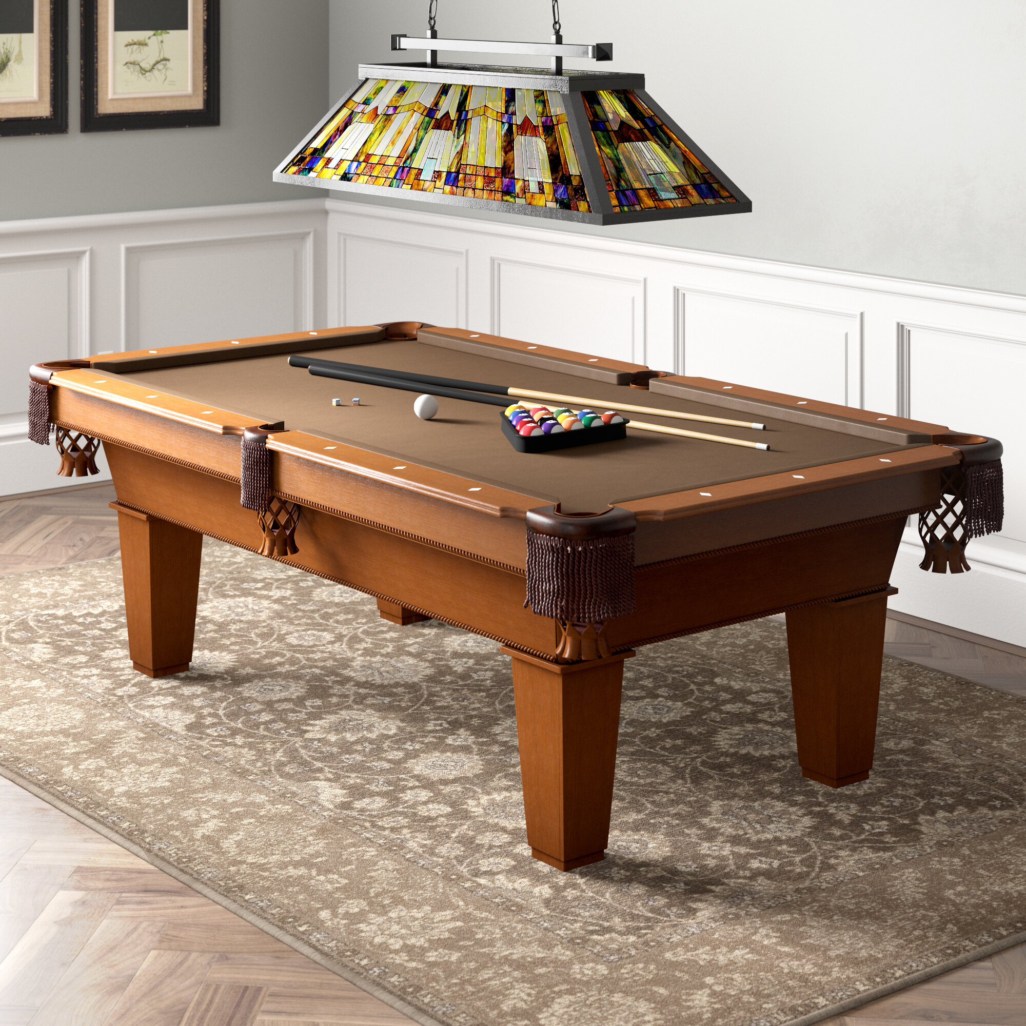 GLD Products Fat Cat Frisco 7.5' Pool Table with Accessories