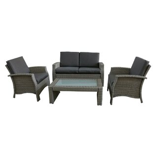 Fiorillo 4 Piece Sofa Set with Cushions