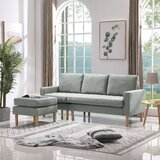 Haydel 70.87'' Wide Left Hand Facing Sofa & Chaise by George Oliver