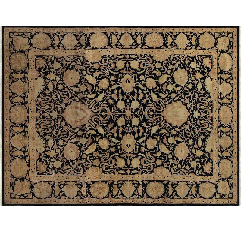 Arshs Fine Rugs Annalee Hand Knotted Wool Blue Area Rug Wayfair