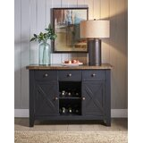 Grear 52 Wide 3 Drawer Rubberwood Sideboard by Gracie Oaks