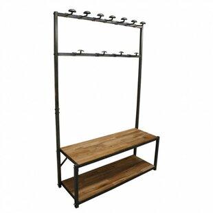 Rangel Reclaimed Teak Mudroom Meta Storage Bench by Gracie Oaks