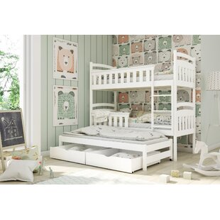 Alton Single Bunk Bed With Trundle By Harriet Bee