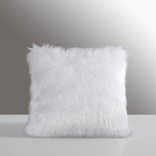 Carrico Mongolian Faux Fur Throw Pillow (Set of 2)