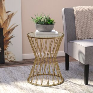 Wade Logan Carpendale Hourglass Metal End Table