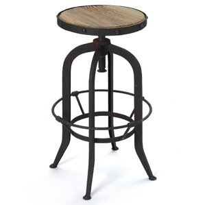Dexheart Adjustable Height Bar Stool by 17 Stories