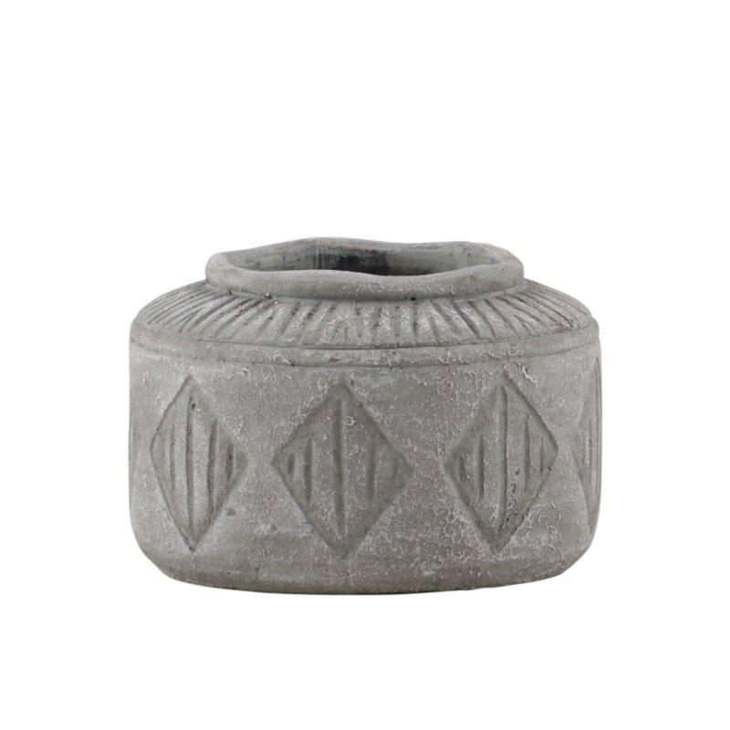 Union Rustic Cantwell Cement Pot Planter Wayfair