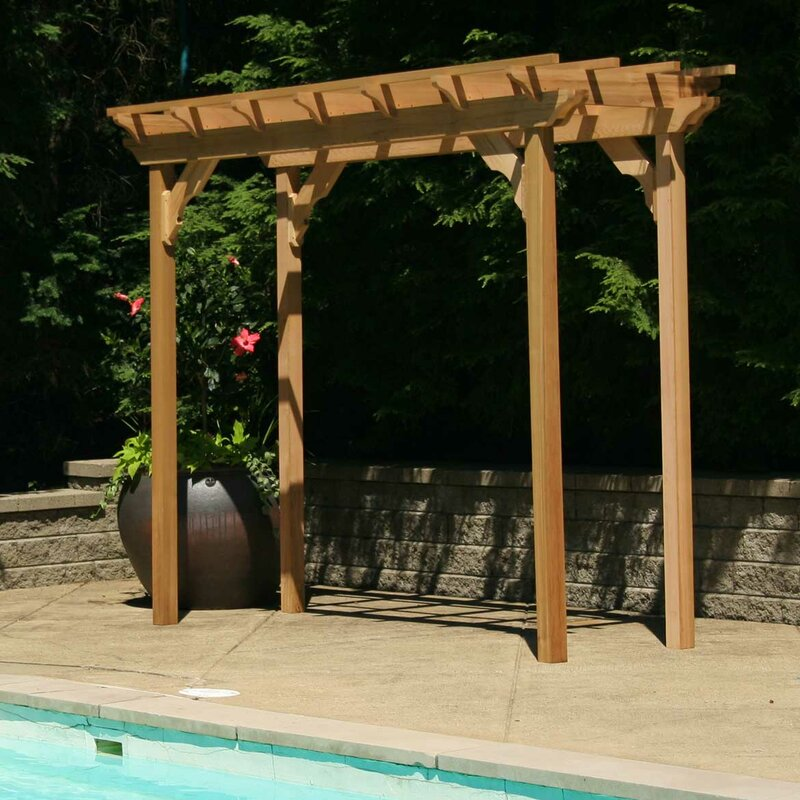 Cedar New Dawn 10 Ft. W x 4 Ft. D Solid Wood Pergola