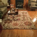 Birch Lane Jasmine Parchment Amp Red Rug Amp Reviews Birch Lane