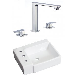 Compare Ceramic Rectangular Bathroom Sink with Faucet ByAmerican Imaginations