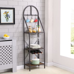 Gracie Oaks Magaw Iron Baker's Rack
