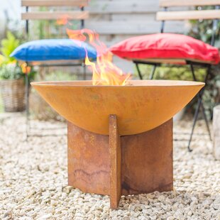 Josue Steel Wood Burning Fire Pit By Sol 72 Outdoor