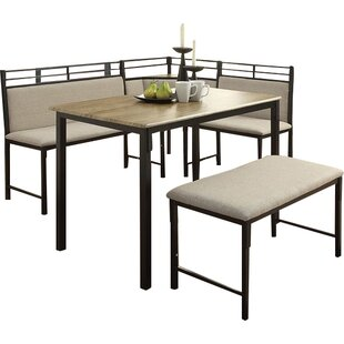 Moonachie Corner 3 Piece Dining Set