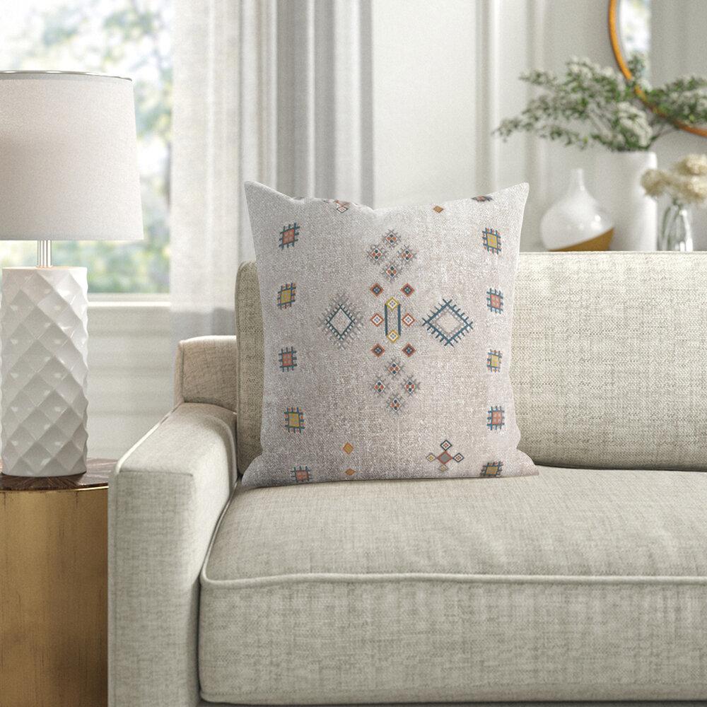 Kelly Clarkson Home Adagio Cotton Geometric 18 Throw Pillow Cover Reviews Wayfair