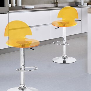 Reviews Germanicus Adjustable Height Swivel Bar Stool (Set of 2) by Wrought Studio Reviews (2019) & Buyer's Guide