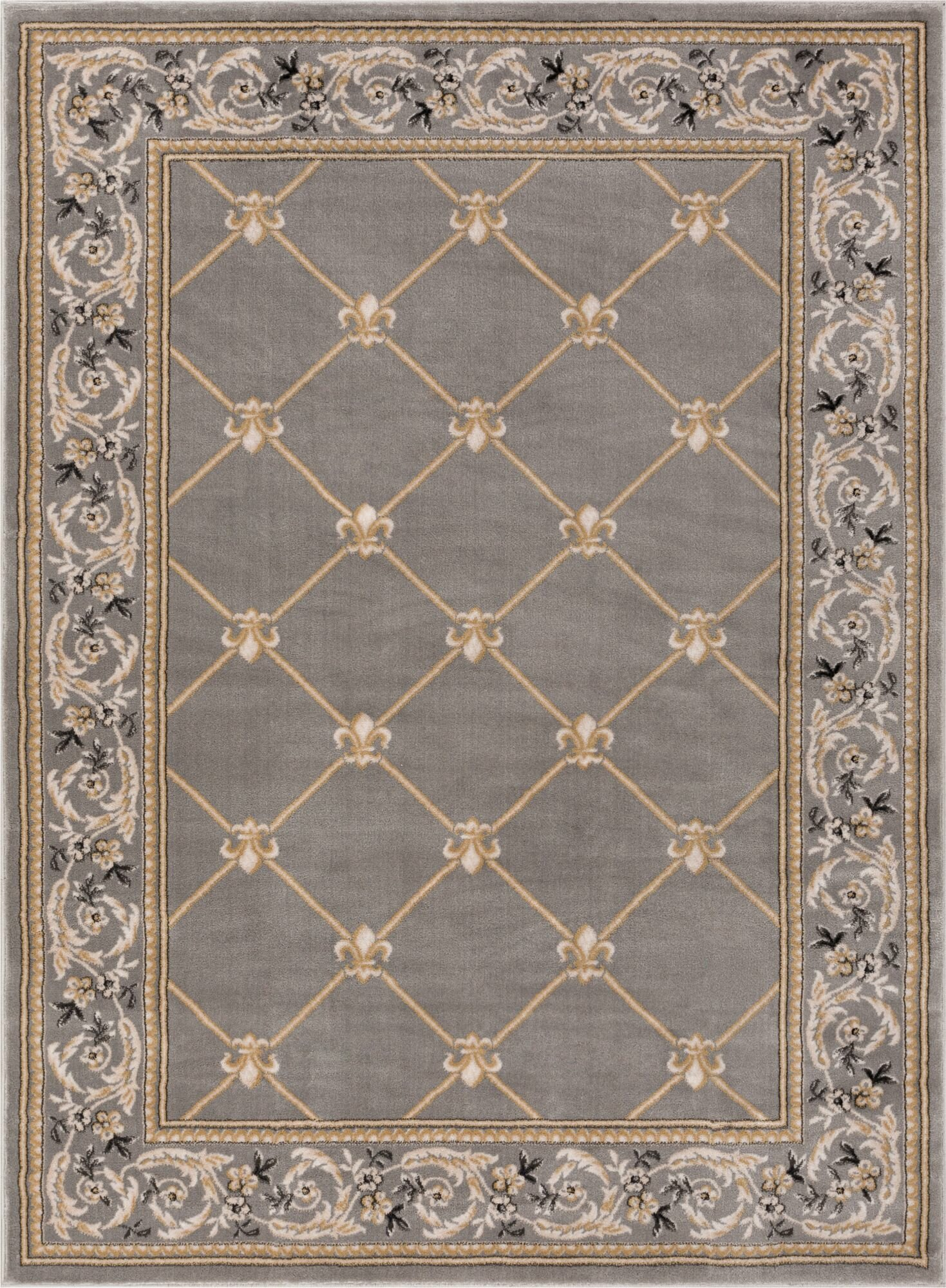 Well Woven Timeless Fleur De Lis Gray Area Rug Reviews Wayfair