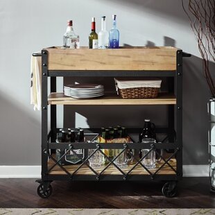 DeBary Rolling Bar Cart by 17 Stories