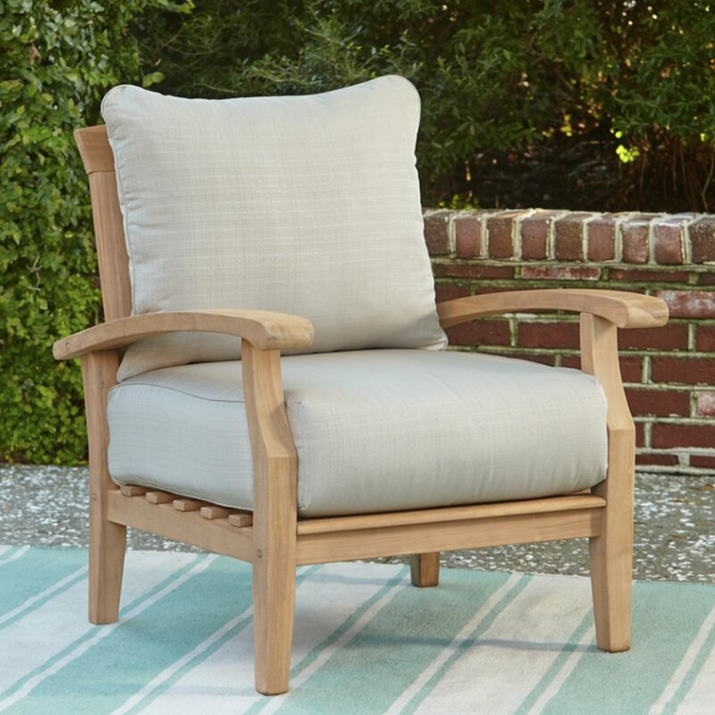 Summerton Teak Patio Chair With Cushions Reviews Joss Main