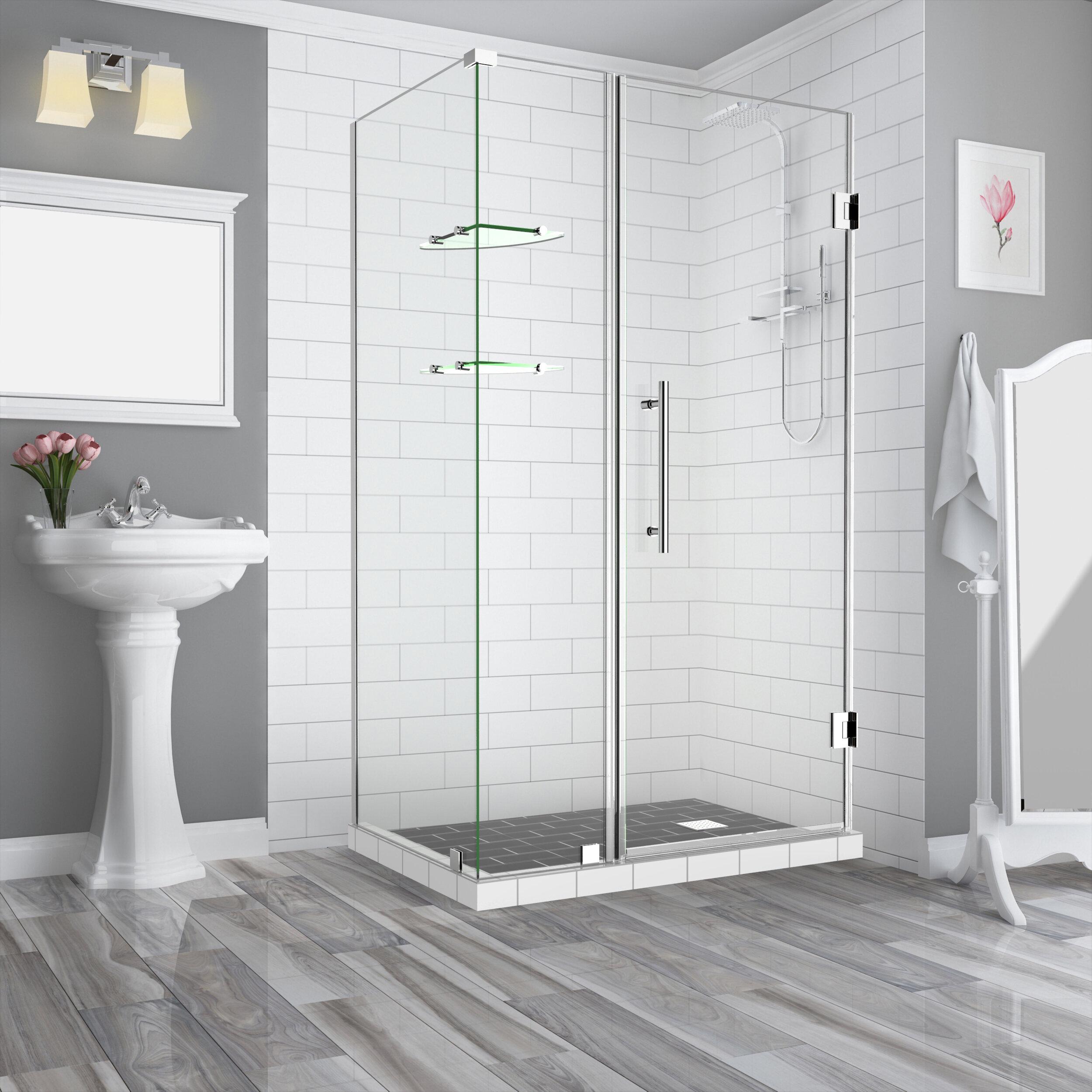 Aston Bromley Gs 75 63 X 72 Rectangle Hinged Shower Enclosure Wayfair