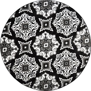 Caffey Modern Trellis Black/White Area Rug by Andover Mills