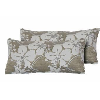 Canora Grey Ouzts Indoor Outdoor Floral Lumbar Pillow Reviews Wayfair
