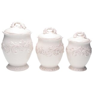 Giulia 3 Piece Ceramic Storage Jar Set