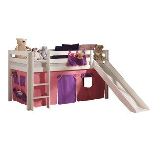 Ethridge European Single Mid Sleeper Bed With Curtain By Zoomie Kids