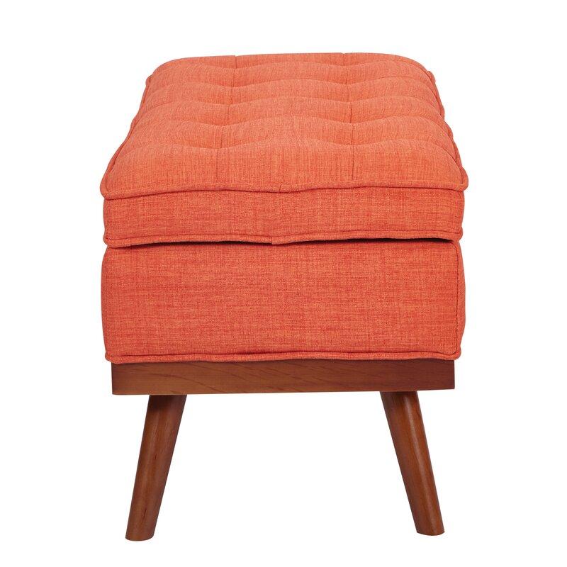 Attirant Ronquillo Upholstered Storage Bench