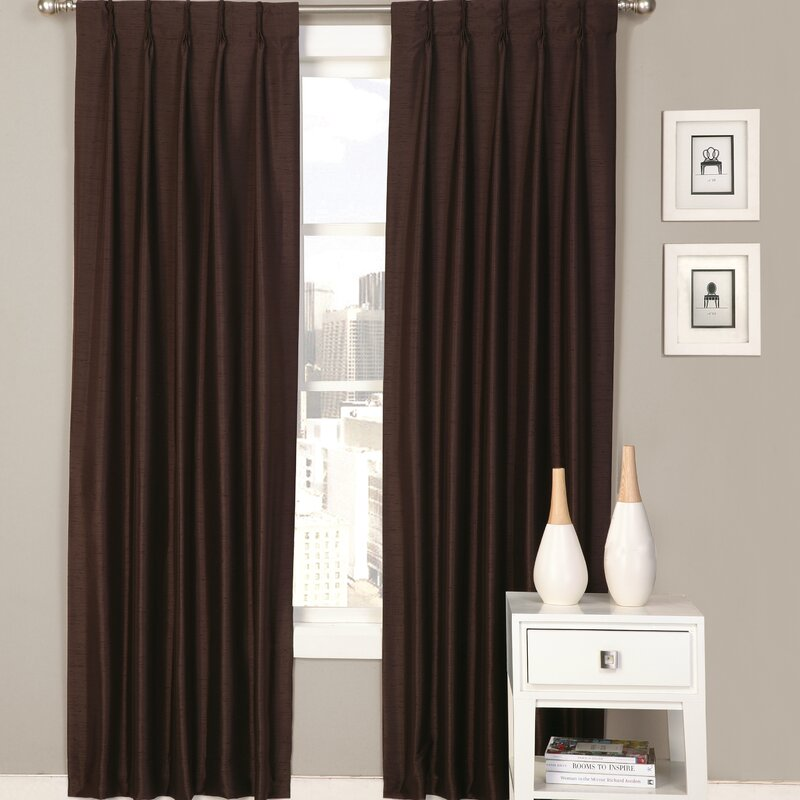 palace solid semisheer pinch pleat curtain panels