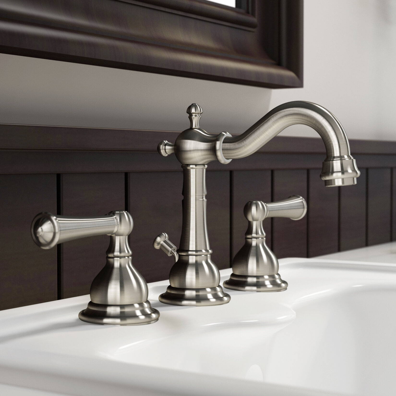 Jacuzzi® Barrea Lavatory Widespread Bathroom Faucet with Drain ...