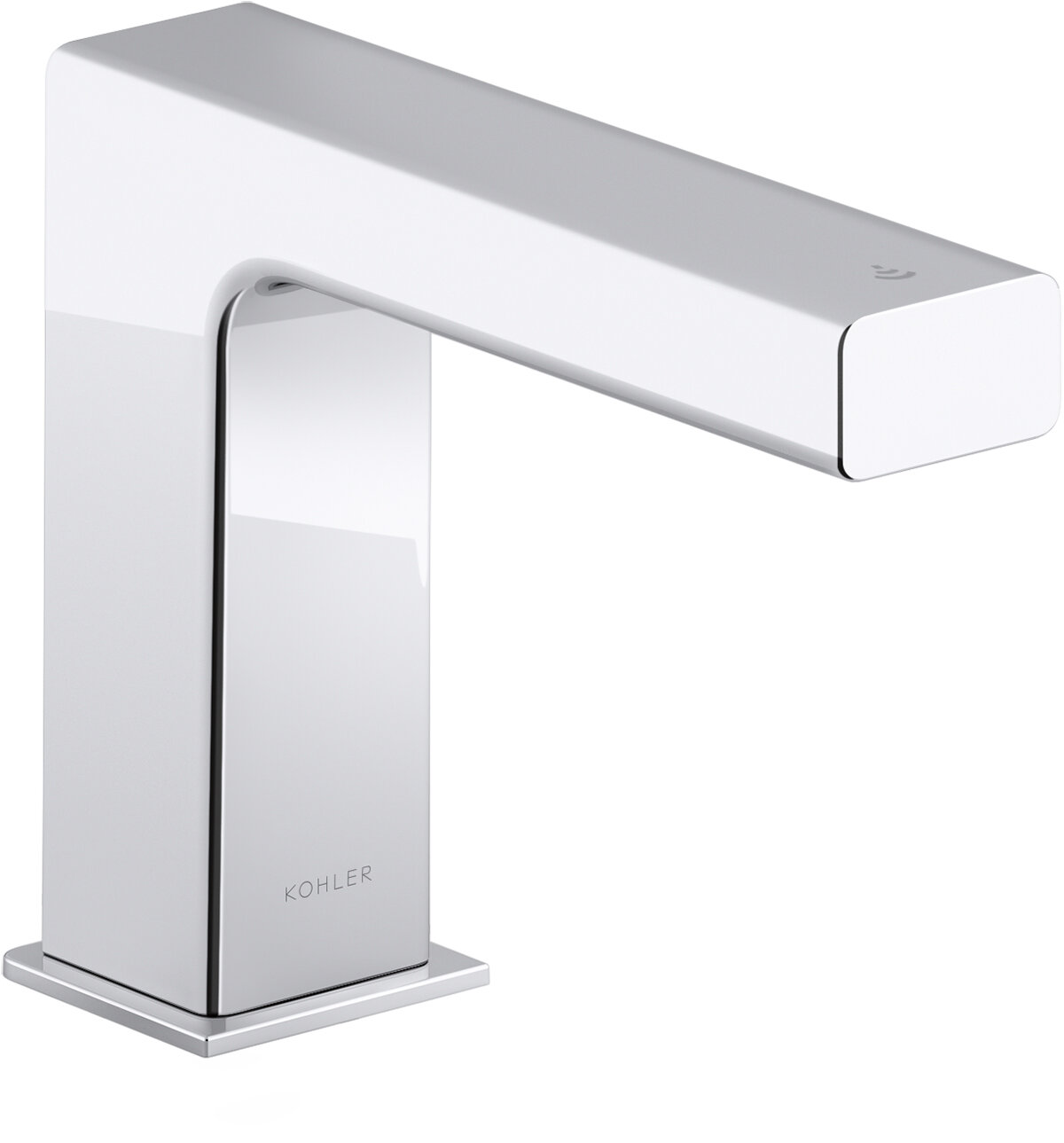 strayt touchless bathroom sink faucet with kinesis sensor technology and mixer dc powered