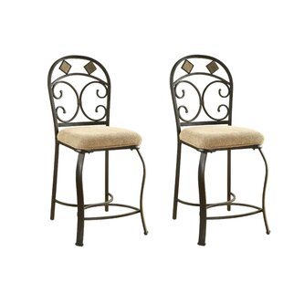 Groh Metal 24 Bar Stool (Set of 2) by Fleur De Lis Living