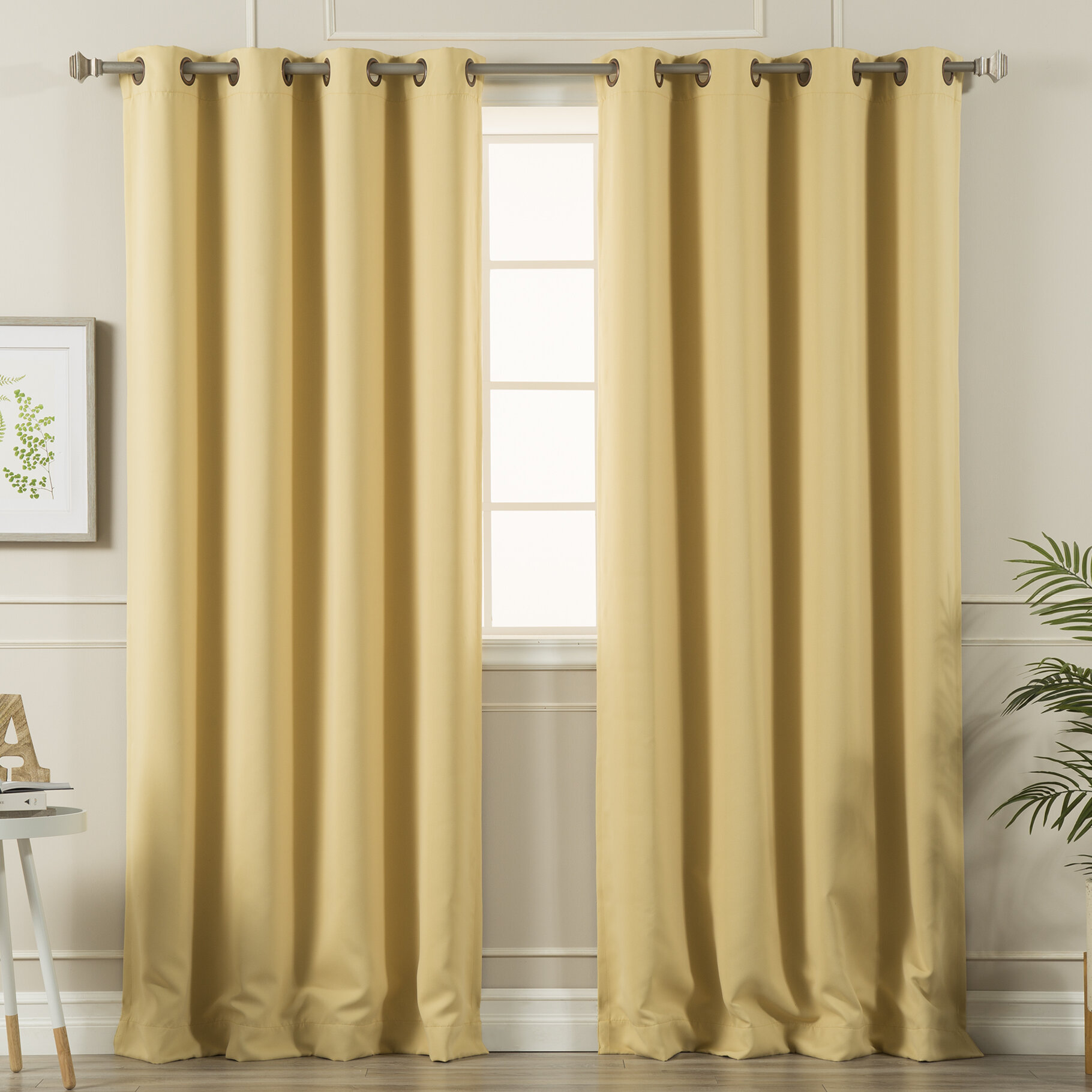 2 panel Decor 3D Blockout Window Curtain Scenic Drapes Merry Christmas Day 1011