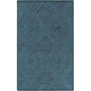 Best Price Enkhuizen Hand-Woven Blue Area Rug ByBungalow Rose
