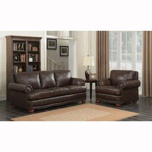 Canora Grey Wakerobin 2 Piece Leather Living Room Set