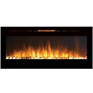 DeMotte Wall Mount Metal Electric Fireplace ..
