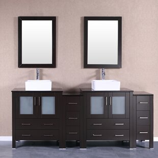 Chela 84 Double Bathroom Vanity Set with Mirror by Bosconi