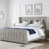 Brie Tufted Upholstered Low Profile Standard Bed by House of Hampton®