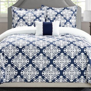 Trina 8 Piece Reversible Duvet Cover Set