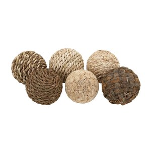 Searmont Decorative Dried Plant Ball 6 Piece Sculpture Set