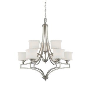 Charlton Home Ellerman 9-Light Shaded Chandelier