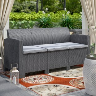 Highland Dunes Bartonville Outdoor Patio Sofa with Cushions