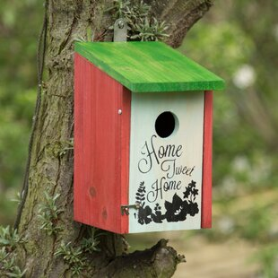 Ayres Home Tweet Home Wooden Nesting Box Hanging Bird House By Brambly Cottage