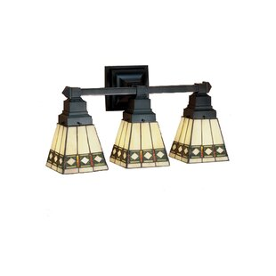 Savings Diamond Mission 3-Light Vanity Light By Meyda Tiffany