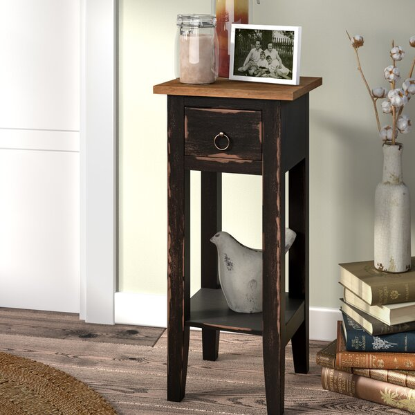laurel foundry modern farmhouse tompkins narrow end table u0026 reviews wayfair
