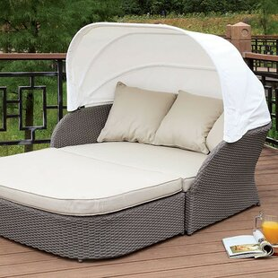 Coronado Patio Daybed with Cushions by Rosecliff Heights