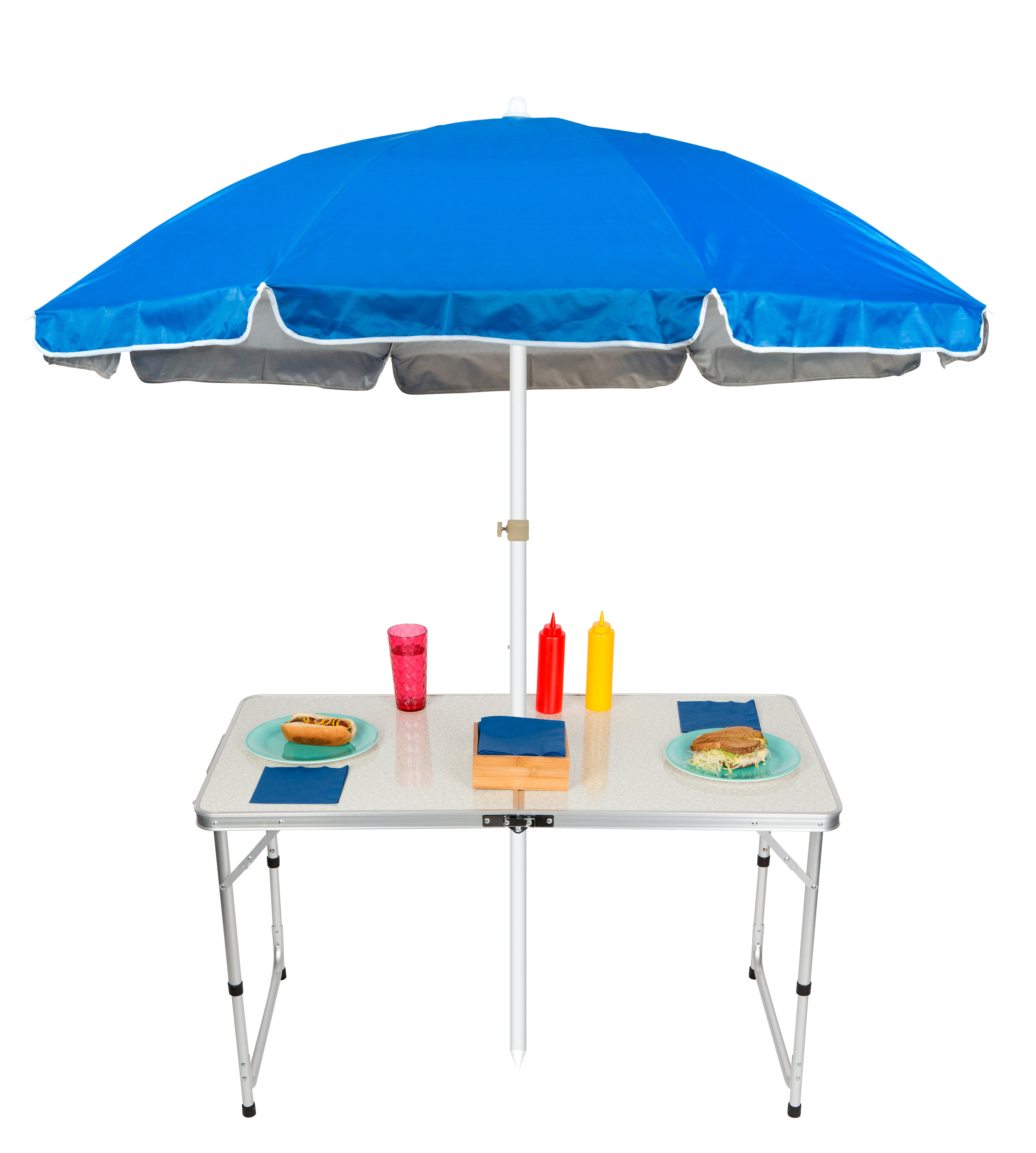 Stupendous Adjustable Portable Folding Camp Table 6 5 Beach Umbrella Gmtry Best Dining Table And Chair Ideas Images Gmtryco